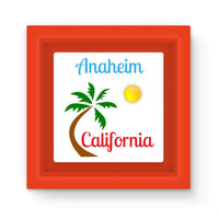 Anaheim California Palm Sun Magnet Frame Red Homeware