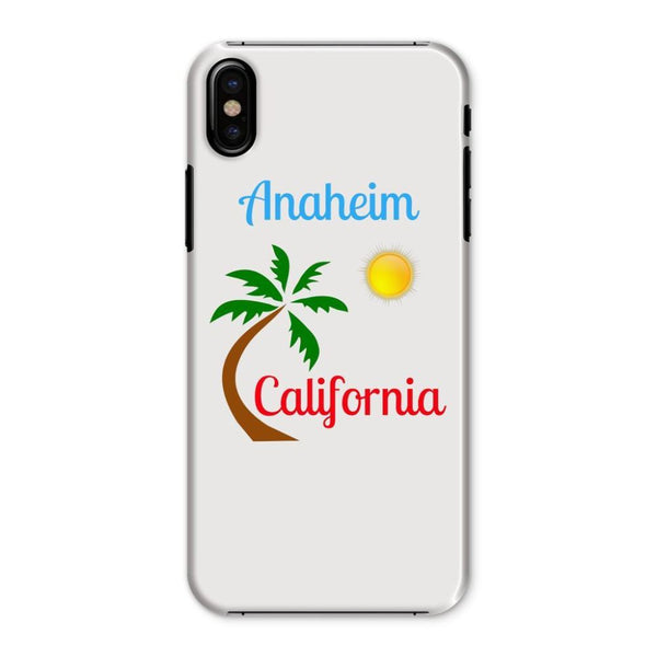 Anaheim California Palm Sun Phone Case Iphone X / Snap Gloss & Tablet Cases