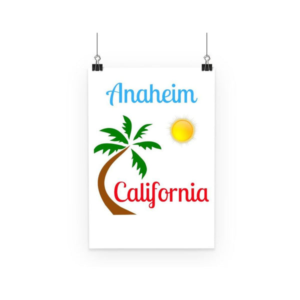 Anaheim California Palm Sun Poster A3 Wall Decor