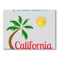 Anaheim California Palm Sun Stretched Canvas 16X12 Wall Decor