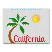 Anaheim California Palm Sun Stretched Canvas 24X18 Wall Decor