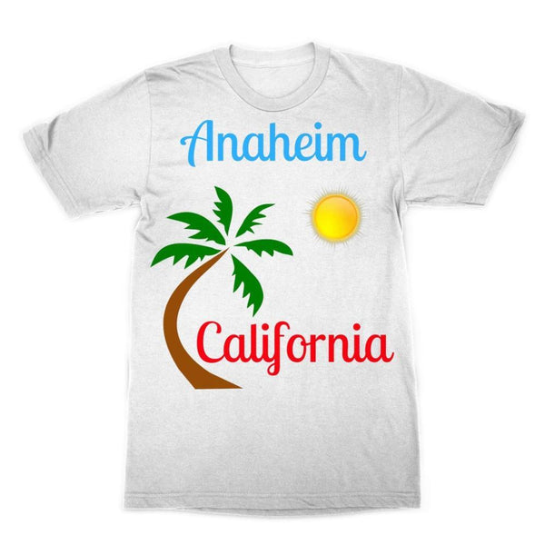 Anaheim California Palm Sun Sublimation T-Shirt Xs Apparel