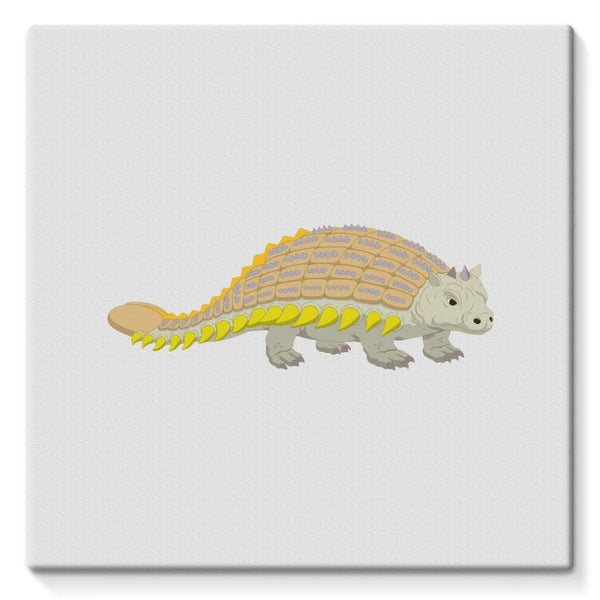 Ankylosaurio Dinosaur Stretched Canvas 10X10 Wall Decor