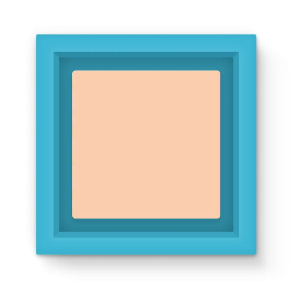 Apricot Peach Color Magnet Frame Light Blue Homeware