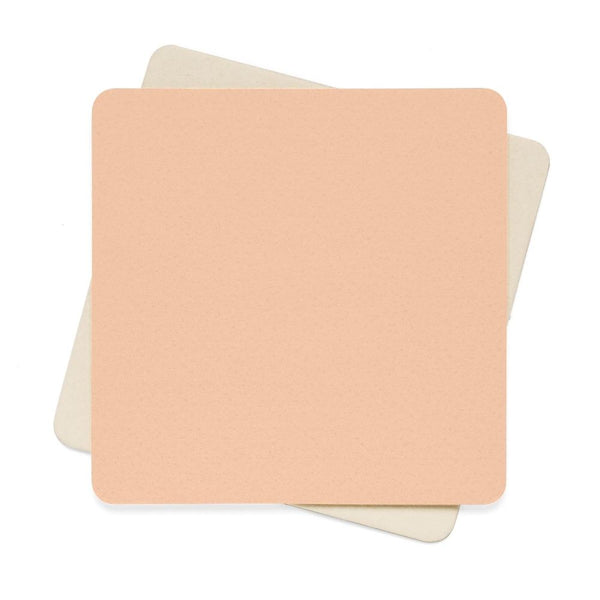 Apricot Peach Color Square Paper Coaster Set - 6Pcs 4 X In Home Decor