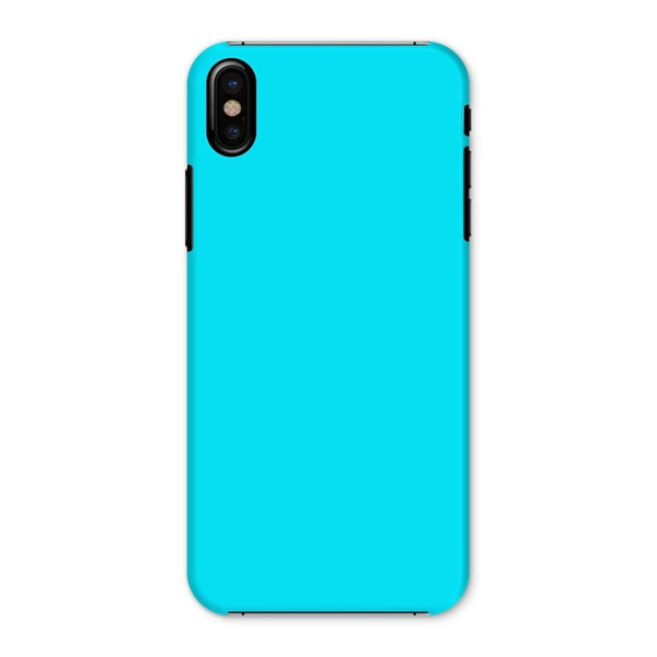 Aqua Blue Color Phone Case Iphone X / Snap Gloss & Tablet Cases