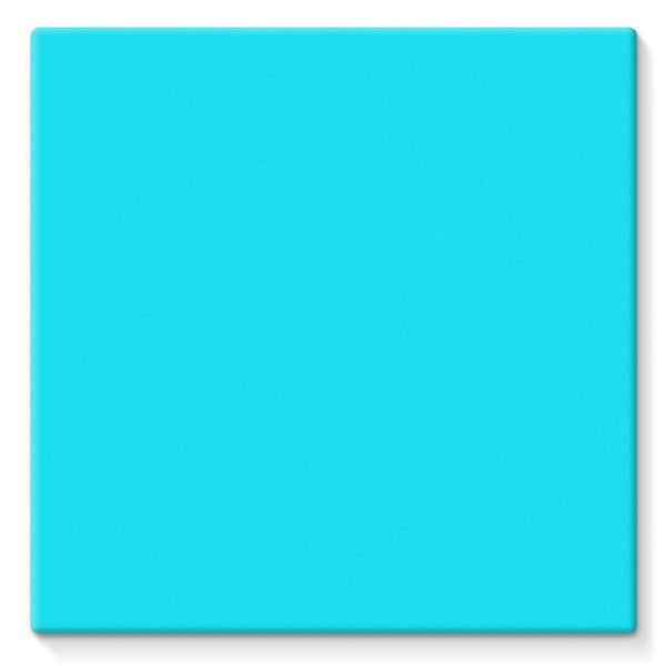 Aqua Blue Color Stretched Eco-Canvas 10X10 Wall Decor