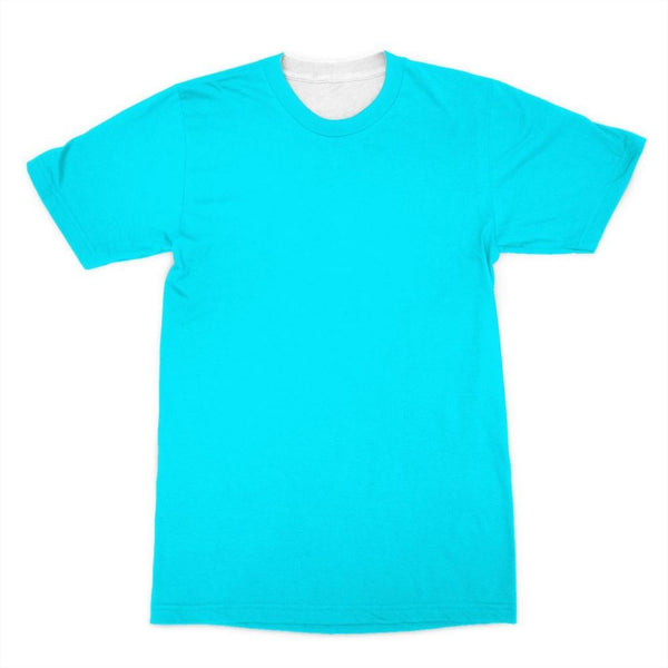 Aqua Blue Color Sublimation T-Shirt Xs Apparel