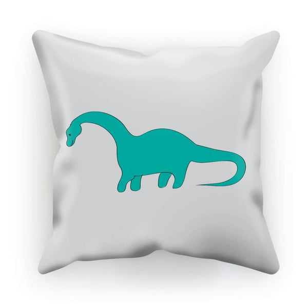 Aquamarine Dinosaur Cushion Linen / 12X12 Homeware