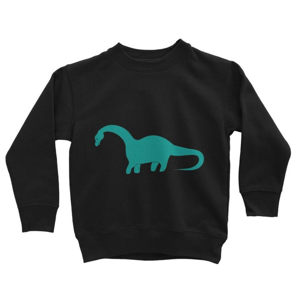 Aquamarine Dinosaur Kids Sweatshirt 3-4 Years / Jet Black Apparel