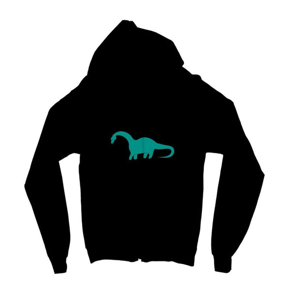 Aquamarine Dinosaur Kids Zip Hoodie 3-4 Years / Jet Black Apparel