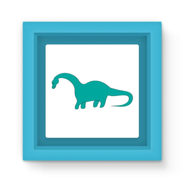Aquamarine Dinosaur Magnet Frame Light Blue Homeware