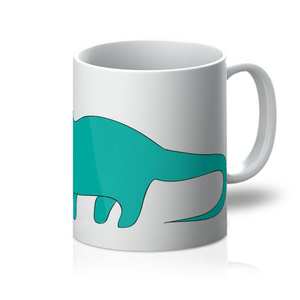 Aquamarine Dinosaur Mug 11Oz Homeware