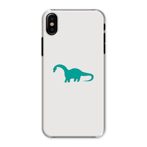 Aquamarine Dinosaur Phone Case Iphone X / Snap Gloss & Tablet Cases