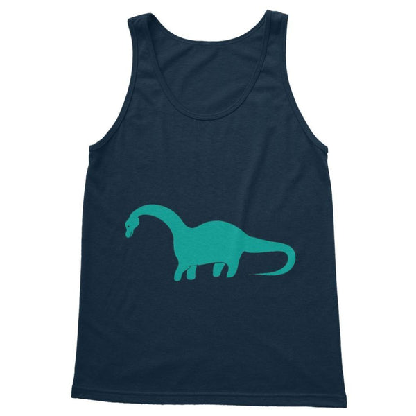 Aquamarine Dinosaur Softstyle Tank Top S / Navy Apparel