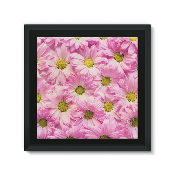 Arrangement Pink Blossoms Framed Eco-Canvas 10X10 Wall Decor
