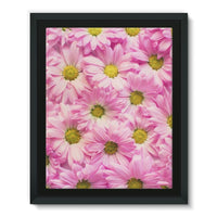 Arrangement Pink Blossoms Framed Eco-Canvas 11X14 Wall Decor