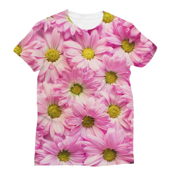 Arrangement Pink Blossoms Sublimation T-Shirt Xs Apparel