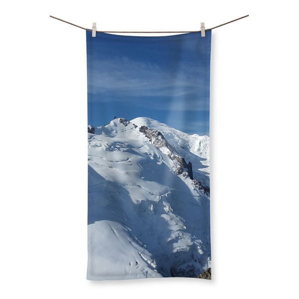 Awesome Snowy Mont Blanc Beach Towel 19.7X39.4 Homeware