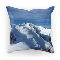 Awesome Snowy Mont Blanc Cushion Canvas / 18X18 Homeware