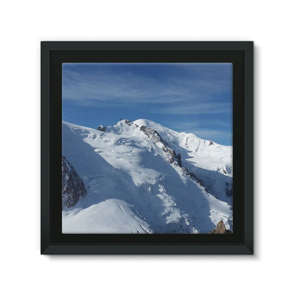 Awesome Snowy Mont Blanc Framed Canvas 12X12 Wall Decor