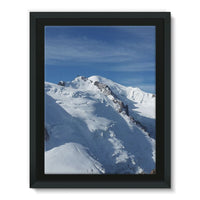 Awesome Snowy Mont Blanc Framed Canvas 12X16 Wall Decor