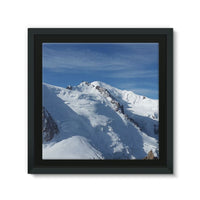 Awesome Snowy Mont Blanc Framed Canvas 14X14 Wall Decor
