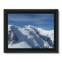 Awesome Snowy Mont Blanc Framed Canvas 16X12 Wall Decor