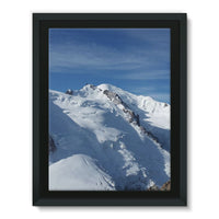 Awesome Snowy Mont Blanc Framed Canvas 18X24 Wall Decor