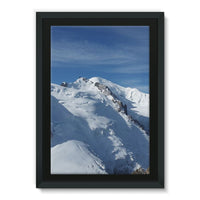 Awesome Snowy Mont Blanc Framed Eco-Canvas 24X36 Wall Decor