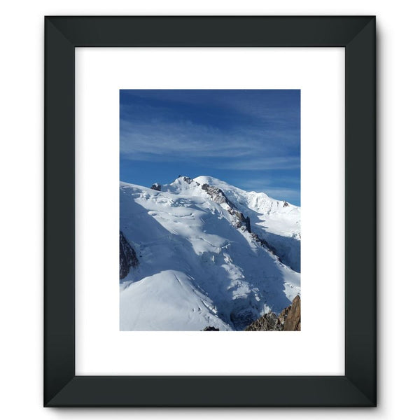 Awesome Snowy Mont Blanc Framed Fine Art Print 12X16 / Black Wall Decor