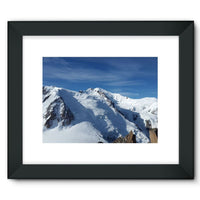 Awesome Snowy Mont Blanc Framed Fine Art Print 16X12 / Black Wall Decor