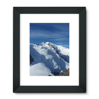 Awesome Snowy Mont Blanc Framed Fine Art Print 18X24 / Black Wall Decor
