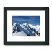 Awesome Snowy Mont Blanc Framed Fine Art Print 32X24 / Black Wall Decor
