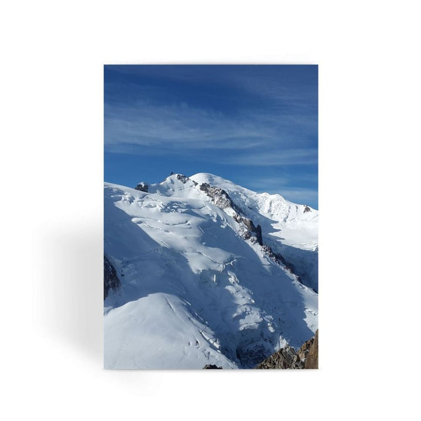 Awesome Snowy Mont Blanc Greeting Card 1 Prints