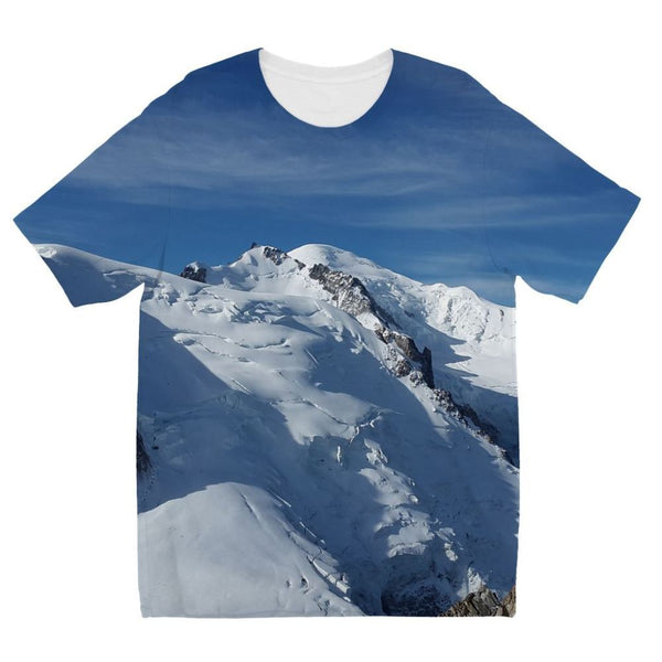 Awesome Snowy Mont Blanc Kids Sublimation T-Shirt 3-4 Years Apparel