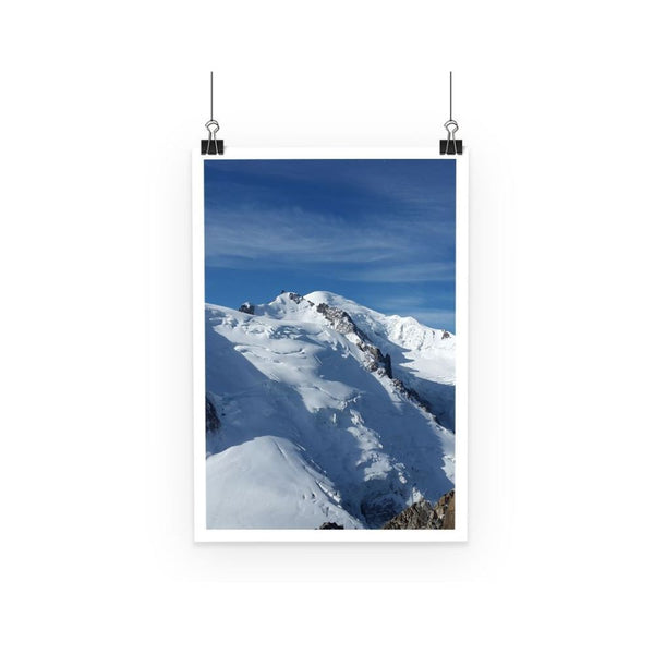 Awesome Snowy Mont Blanc Poster A3 Wall Decor