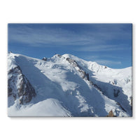 Awesome Snowy Mont Blanc Stretched Canvas 16X12 Wall Decor