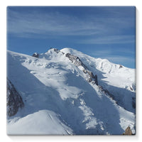 Awesome Snowy Mont Blanc Stretched Eco-Canvas 10X10 Wall Decor