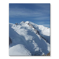 Awesome Snowy Mont Blanc Stretched Eco-Canvas 11X14 Wall Decor
