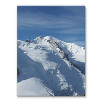 Awesome Snowy Mont Blanc Stretched Eco-Canvas 18X24 Wall Decor