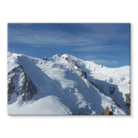 Awesome Snowy Mont Blanc Stretched Eco-Canvas 24X18 Wall Decor