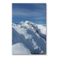 Awesome Snowy Mont Blanc Stretched Eco-Canvas 24X36 Wall Decor