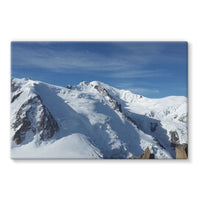 Awesome Snowy Mont Blanc Stretched Eco-Canvas 36X24 Wall Decor