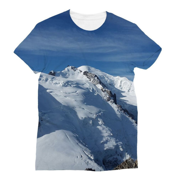 Awesome Snowy Mont Blanc Sublimation T-Shirt Xs Apparel