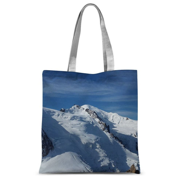 Awesome Snowy Mont Blanc Sublimation Tote Bag 15X16.5 Accessories