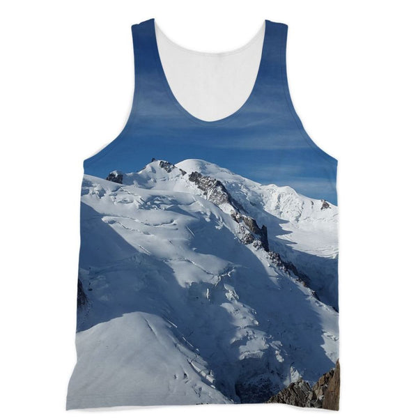 Awesome Snowy Mont Blanc Sublimation Vest Xs Apparel