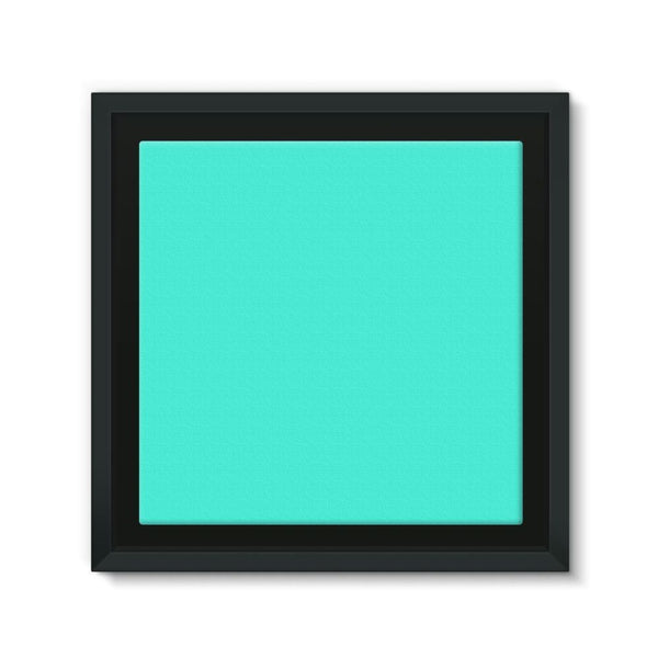 Baby Blue Color Framed Canvas 12X12 Wall Decor