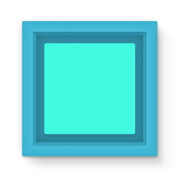 Baby Blue Color Magnet Frame Light Homeware