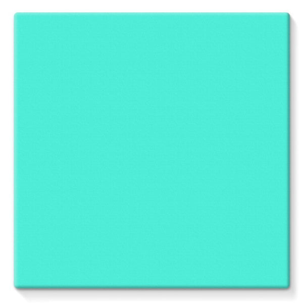 Baby Blue Color Stretched Canvas 10X10 Wall Decor